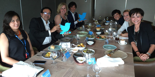 Twitter asia Pac power lunch with CMOs