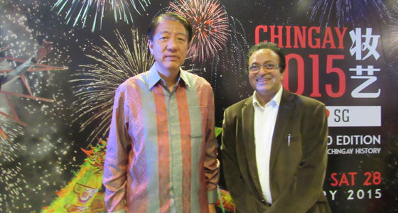 Chingay parade with Deputy Prime Minister Teo Chee Hean Singapore