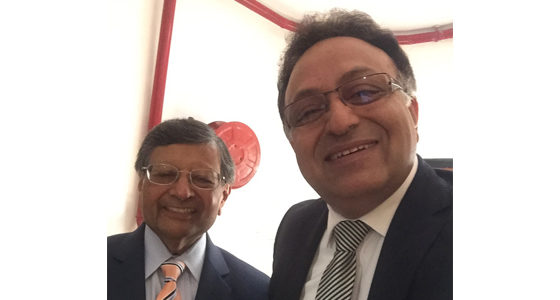 Alok Bharadwaj with Dr Jagdish Sheth of Goizueta Business school