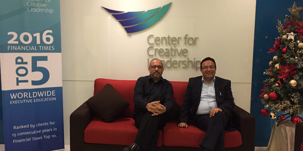 Alok Bharadwaj with Director of Center for Creative Leadership Singapore