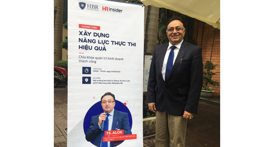 Alok Bharadwaj just outside seminar hall in Hanoi