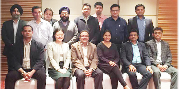Dr Alok Bharadwaj with a batch of change leaders in Canon India